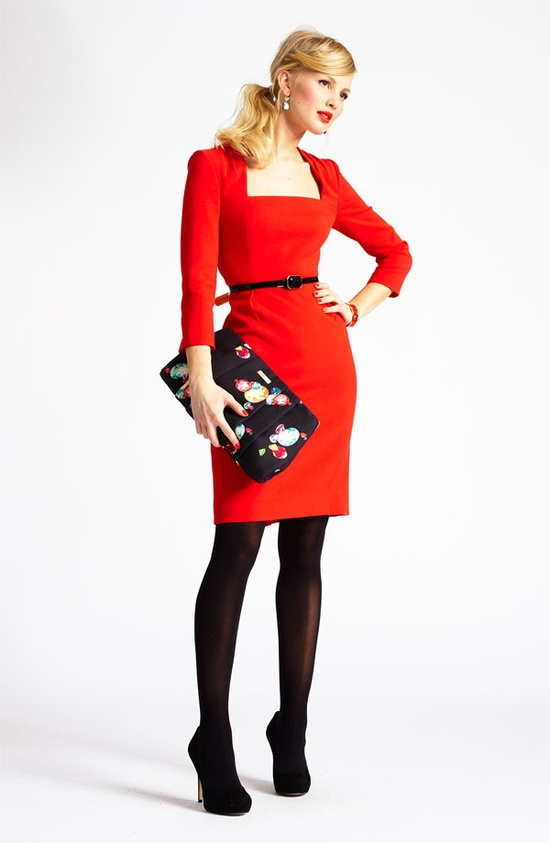 Office Soiree: kate spade new york sheath dress & accessories #Nordstrom #Holiday