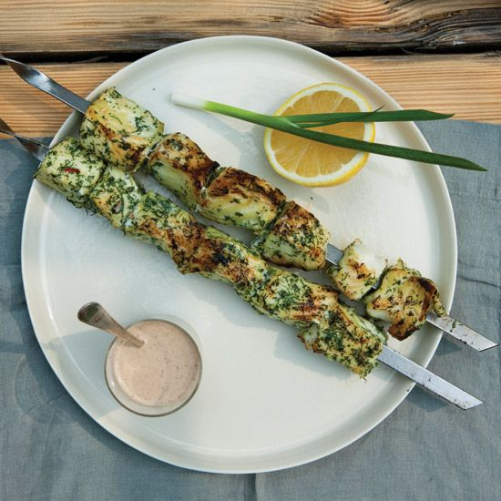 Herb-and-Chile-Marinated Fish Kebabs // More Healthy Fish Recipes: www.foodandwine.c... #foodandwine #fwpinandwin