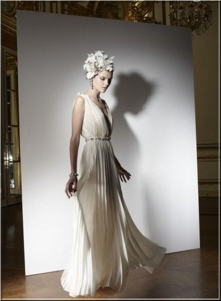 Lanvin Bridal Collection 2013. I love the lighting and the flower cluster fascinator.