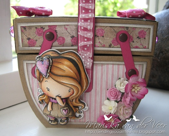 Sending you a little smile :): Grammy's Sewing Kit with Lovey Dovey Amilia by TGF with tutorial(s)