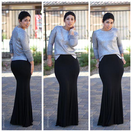 DIY Skirt  & Daytime Sparkle Sweater