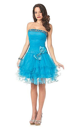 Buy Short Strapless Party Dress Online Dress Store At LuckyGowns.com