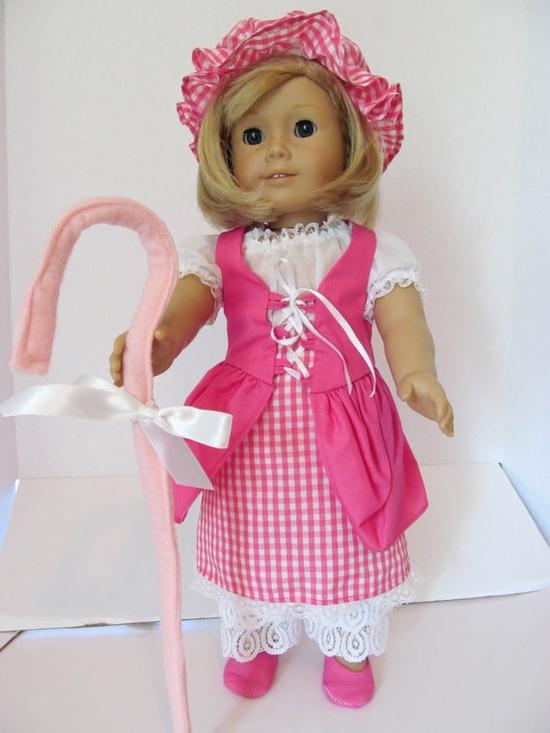 American Girl Doll Clothes,  Little Bo Peep Halloween Costume
