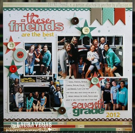#papercraft #scrapbook #layout    Laura Vegas using Off To School by Fancy Pants Designs