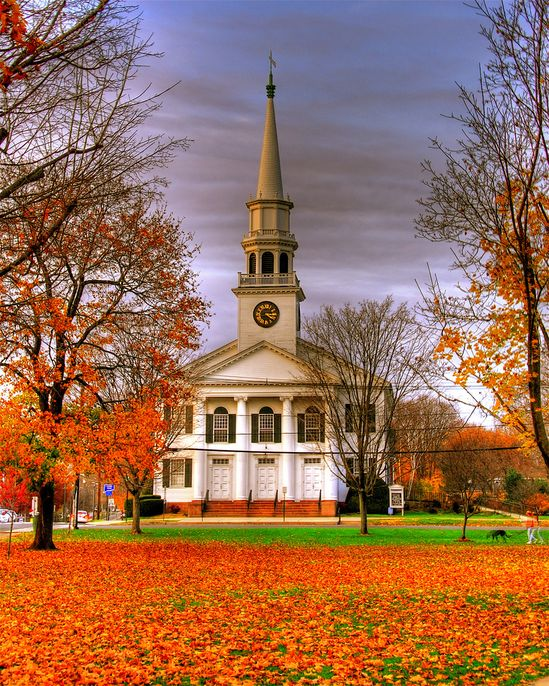 Church on a New England Green    First Congregational Church on the Guilford Green
