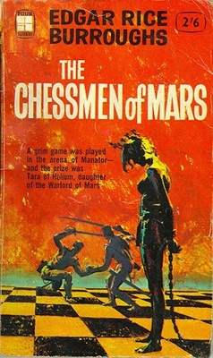 The Chessmen of Mars (1922) by Edgar Rice Burroughs. 1962 cover by Roy Carnon.