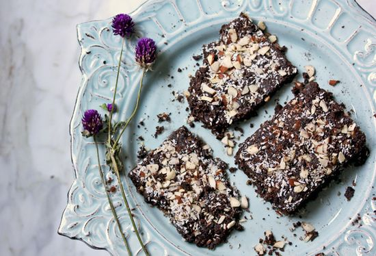 raw coconut almond walnutbrownies - what's cooking good looking - a healthy, seasonal, tasty food and recipe journal