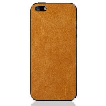 iPhone 5 Case in Leather - Back/Tan