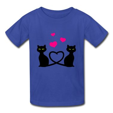 Royal blue Cats In Love Kids & Baby