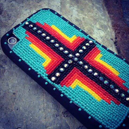 The Four Directions I phone case by BirdsBeadwork on Etsy