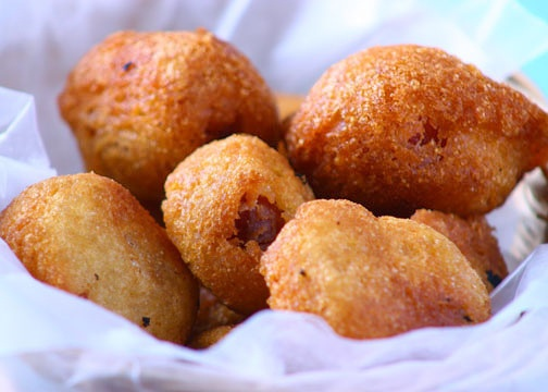 Mini Corn Dogs from The Cooking Bride