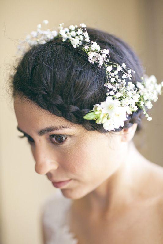 bohemian bridal hair // photo by Annie McElwain Photography