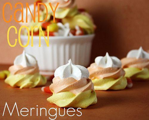 Candy Corn Meringues -- 4 INGREDIENTS!!  Cute and easy.