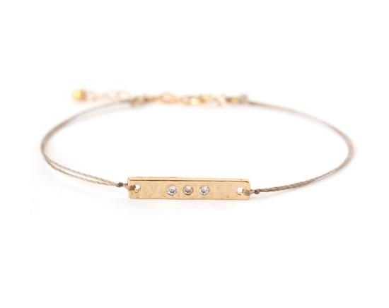 gold & crystal bar bracelet - ayofemi jewelry