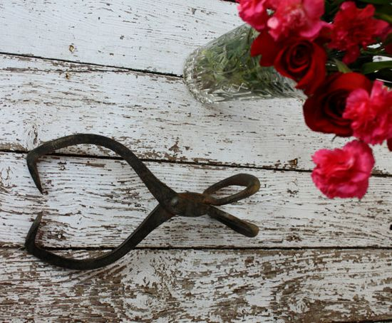 Primitive Tool Ice Tongs Home Decor Rustic Farm by RomantiqueTouch, $20.00
