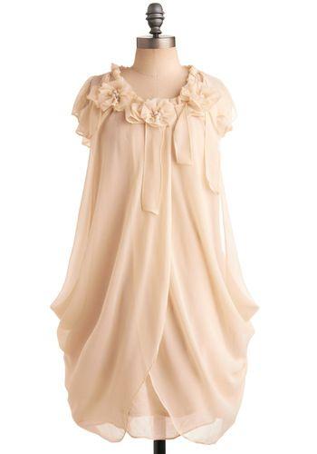 $72.99  Ivory Rose Dress, #ModCloth