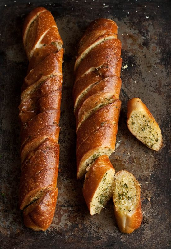 The best ever garlic bread with coriander and Parmesan