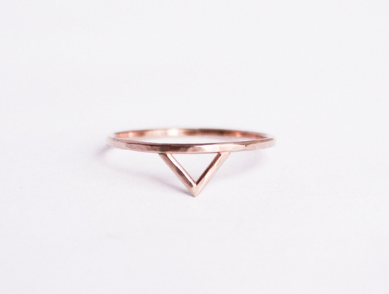 #RoseGold Spike #Ring
