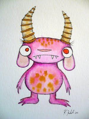 watercolor monsters
