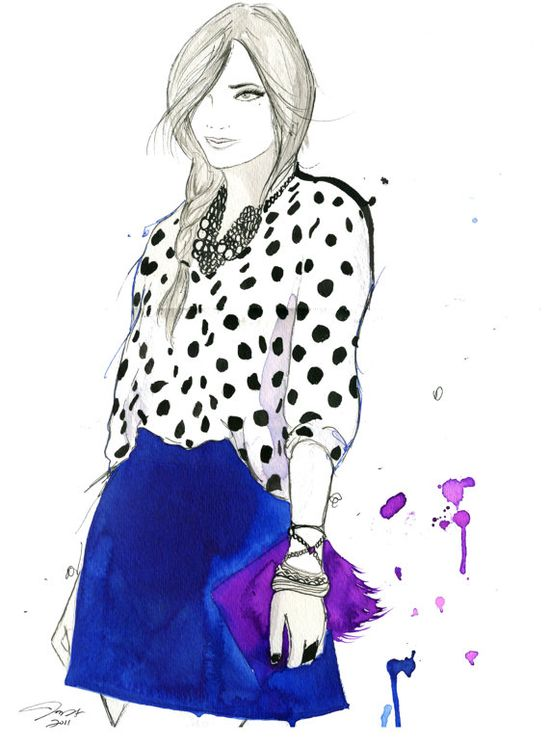 New #watercolor, inspired by street style. #street #casual #illustration #fashion