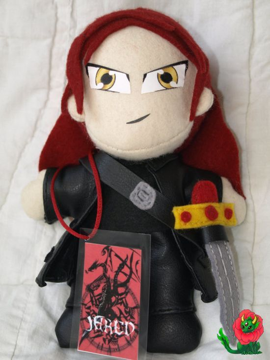Dark Hunter Jared inspired handmade plushie by RoseDragonCrafts,