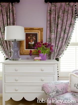 Vingette in exotic girly bedroom...design by Tobi Fairley