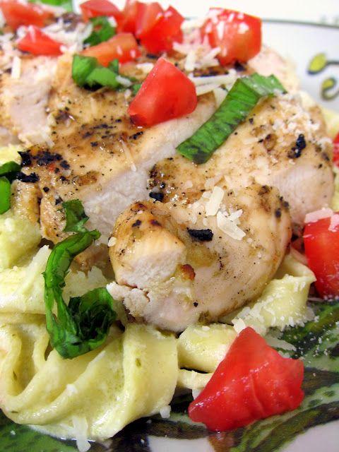 Pesto Alfredo Chicken from Plain Chicken