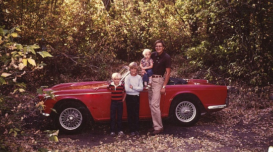 Triumph TR4A (my family in 1979)My brothers and husband fixed these cars up in the 70's