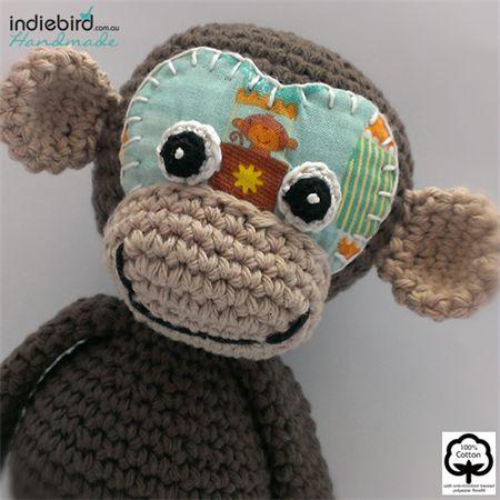 Personalised Monkey Soft Kids Toy Boy – Amigurumi