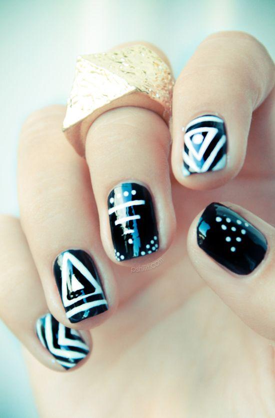 geometric nails!
