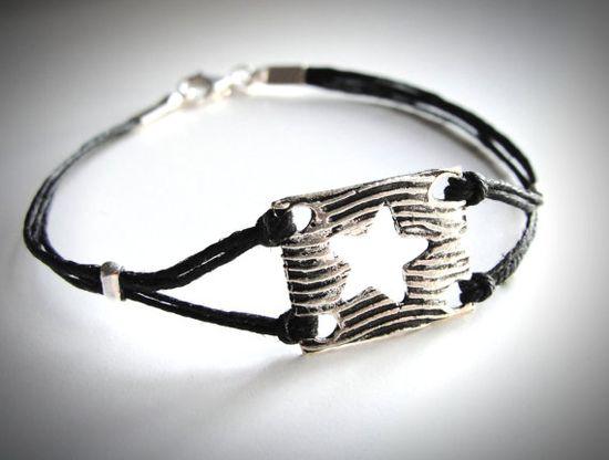 Sterling Star Crossed #bracelet on linen from JewelryByMaeBee on #Etsy.