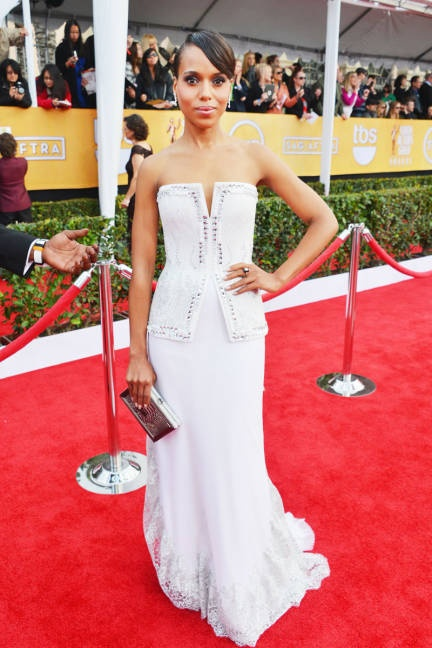 Kerry Washington in lace-trimmed Rodarte (SAG Awards 2013)