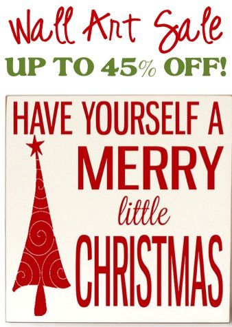 Wall Art Sign Sale: up to 45% off! #Christmas #decor