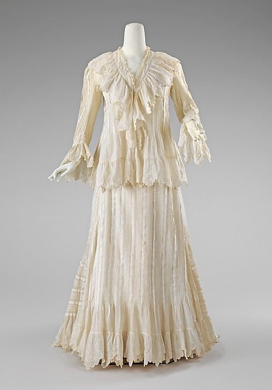 Morning dress  Date: ca. 1902 Culture: American