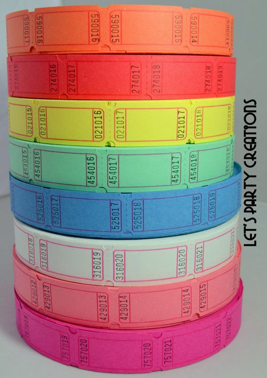 BLANK CARNIVAL TICKETSSet of 120 Weddings by LetsPartyCreations, $3.25