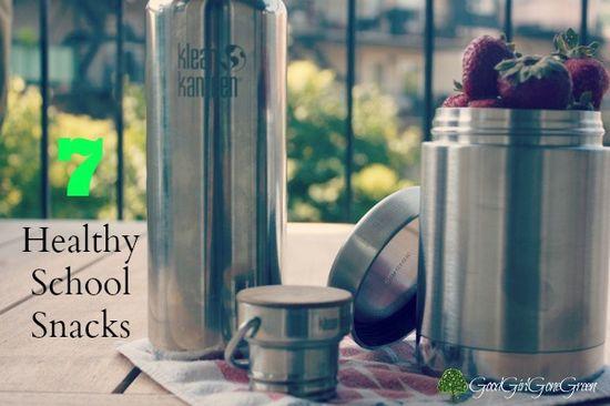 7 Heatlhy School Snacks #BackToSchool #Organic #Health #Green @KleanKanteenGS