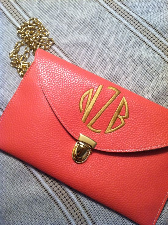 Personalized Monogrammed Clutch Purse several colors to choose From. $25.00, via Etsy.