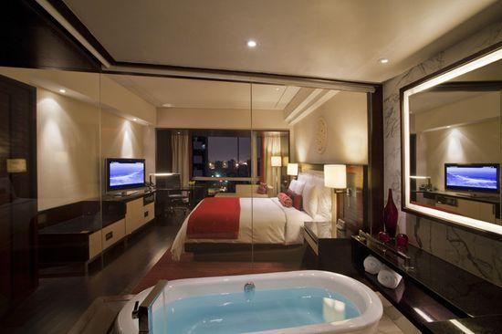 Renaissance Beijing Capital Hotel, interior designed by HBA/Hirsch Bedner Associates