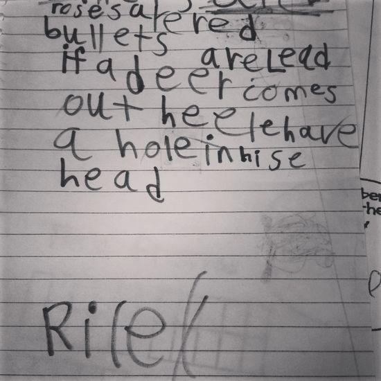Funny kids poem writings.