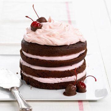 Chocolate Cherry Stack Cake