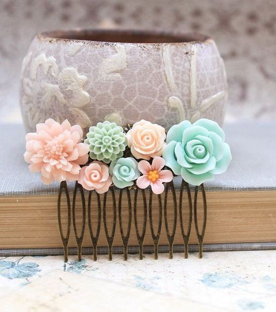 Floral Hair Accessories, Bridal Hair Comb, Wedding Accessories
