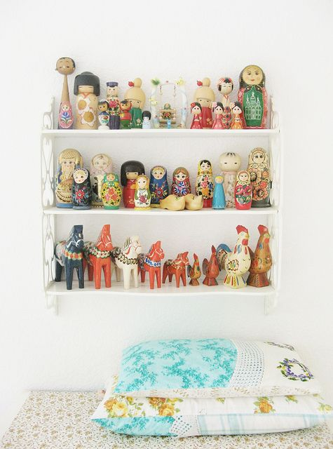 Kokeshi, Nesting Dolls, and Dalas by dottie angel