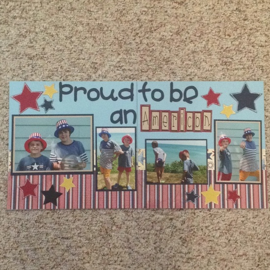 Patriotic Scrapbook Page Layout