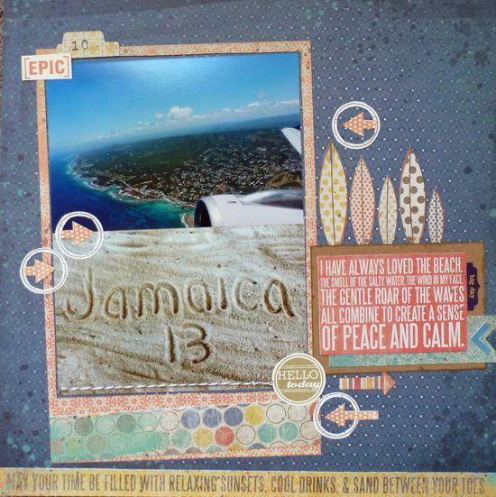 #papercraft #Scrapbook #layout  #travel  Jamaica~ - Scrapbook.com