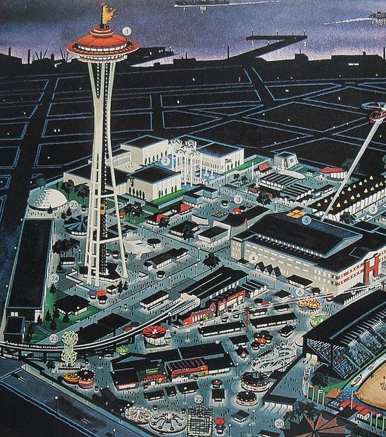 Seattle Worlds Fair 1962 MAP