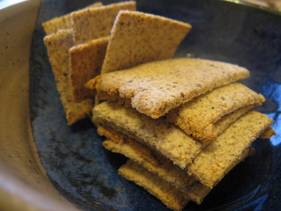 Coconut Flour Chia Crackers