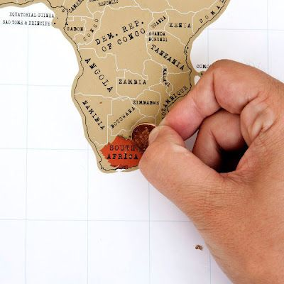 Scratch-off world map = placed you have been show in color! ?