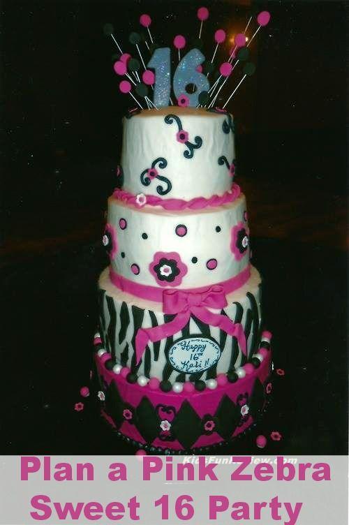 Sweet 16 Pink Zebra Party Ideas