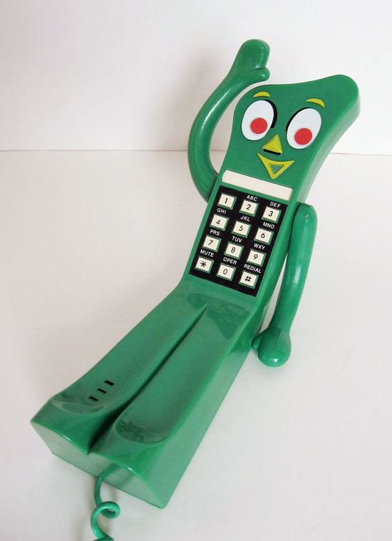 Retro Gumby Green Collectible Touch Tone Phone