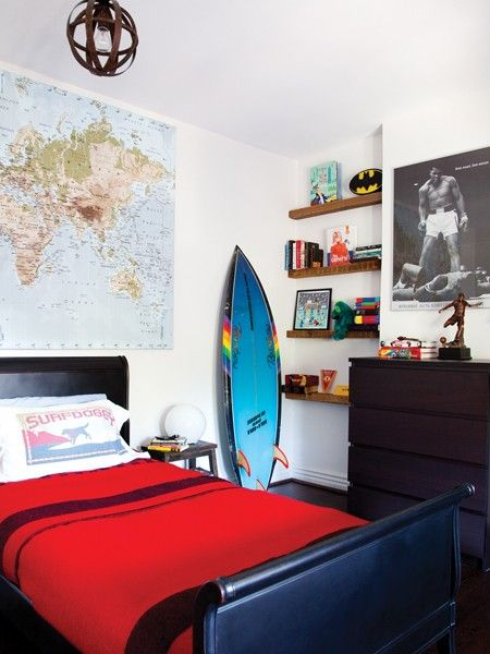 boy's room with map